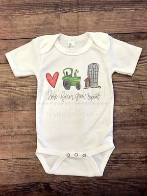 Love. Farm. Grow. Repeat Bodysuit - Doodles by Rebekah