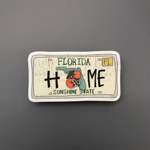 Florida License Plate Sticker - Doodles by Rebekah