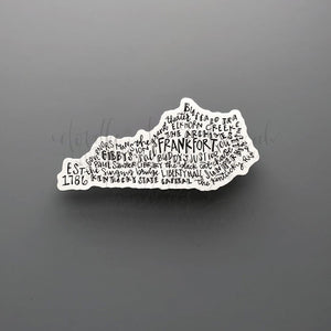 Frankfort, KY Word Art Sticker - Doodles by Rebekah