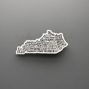 Franklin, KY Word Art Sticker - Doodles by Rebekah