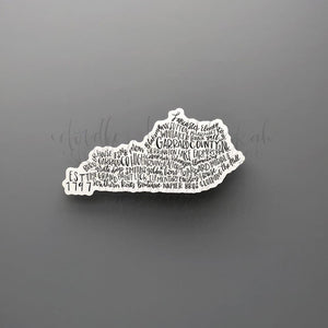 Garrard County KY Word Art Sticker - Sticker