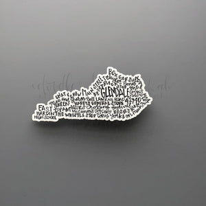 Glendale, KY Word Art Sticker - Doodles by Rebekah