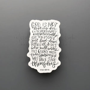 God Is Not Looking Sticker - Doodles by Rebekah