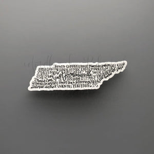 Goodlettsville, TN Word Art Sticker - Doodles by Rebekah