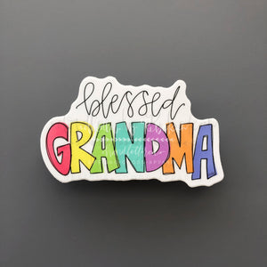 Blessed Grandma Sticker - Doodles by Rebekah