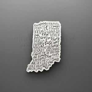 Indiana Word Art Sticker - Doodles by Rebekah
