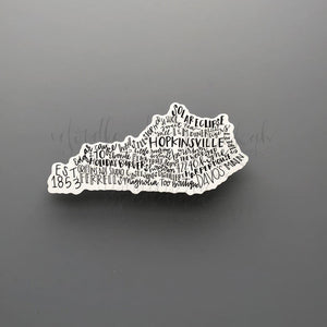 Hopkinsville, KY Word Art Sticker - Doodles by Rebekah
