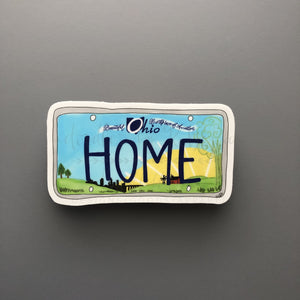 Ohio License Plate Sticker - Doodles by Rebekah