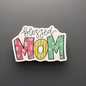Blessed Mom Sticker - Doodles by Rebekah
