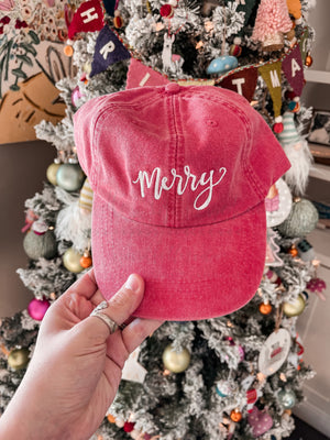 Merry Embroidered Cap
