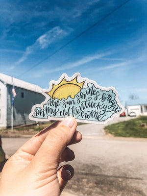 The Sun Shines Bright Sticker - Doodles by Rebekah