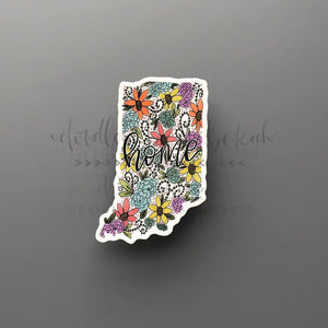 Indiana Floral Home Sticker - Doodles by Rebekah