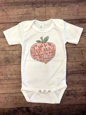 Juicy Peach Bodysuit - Doodles by Rebekah