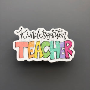 Kindergarten Teacher Sticker - Doodles by Rebekah