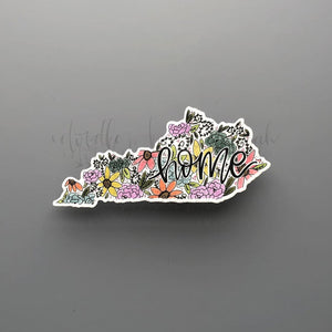 Kentucky Floral Home Sticker - Doodles by Rebekah