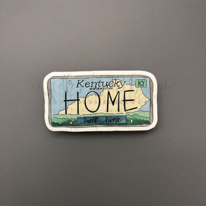 Kentucky License Plate Sticker - Doodles by Rebekah