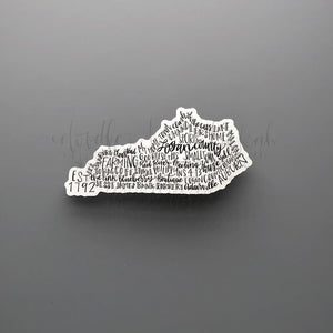 Logan County, KY Word Art Sticker - Doodles by Rebekah