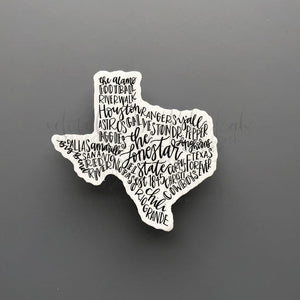 Texas Word Art Sticker - Doodles by Rebekah