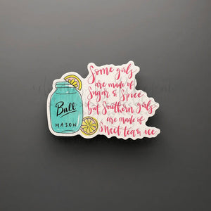 Sweet Tea and Ice Sticker - Doodles by Rebekah