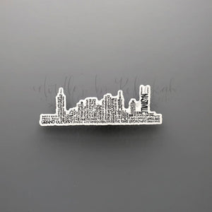 Nashville Skyline Word Art Sticker - Doodles by Rebekah