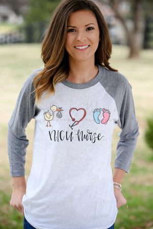 NICU Baby Raglan or Tee - Doodles by Rebekah