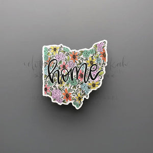 Ohio Floral Home Sticker - Doodles by Rebekah
