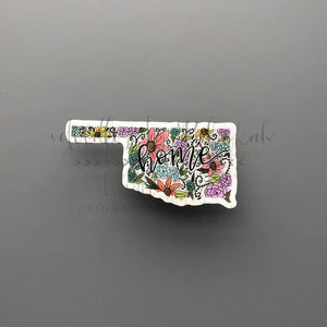 Oklahoma Floral Home Sticker - Doodles by Rebekah