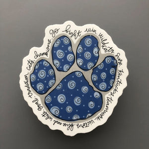 CATS Paw Sticker - Doodles by Rebekah