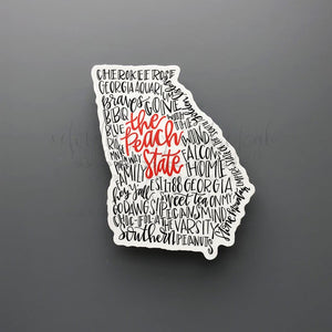 Georgia Word Art Sticker - Sticker