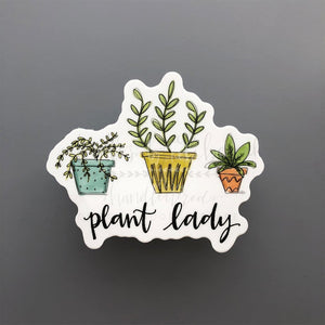 Plant Lady Sticker - Doodles by Rebekah