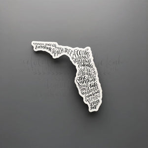 Florida Word Art Sticker - Doodles by Rebekah