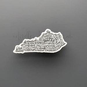 Kentucky Teacher Word Art Sticker - Doodles by Rebekah