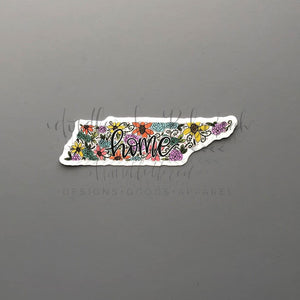 Tennessee Floral Home Sticker - Doodles by Rebekah