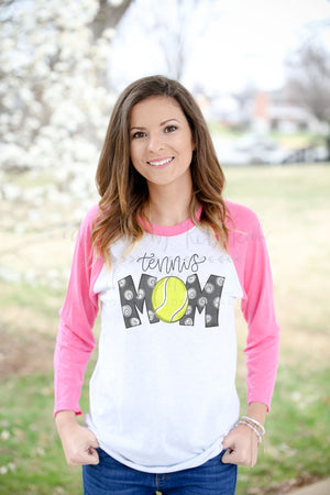 Tennis Mom Raglan - Doodles by Rebekah