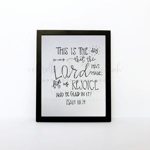 This Is The Day The Lord Has Made 8x10 Print - Doodles by Rebekah