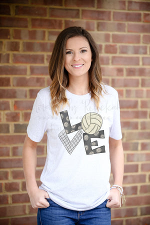 LOVE Volleyball Tee - Doodles by Rebekah