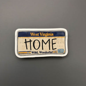 West Virginia License Plate Sticker - Doodles by Rebekah