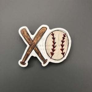 XO Baseball Sticker - Doodles by Rebekah