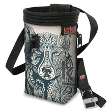 Load image into Gallery viewer, Wolf Chalk Bag White Krieg Climbing