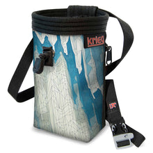 Load image into Gallery viewer, Topo Mountains Ice Blue Chalk Bag