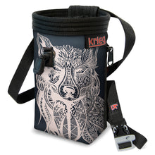 Load image into Gallery viewer, Wolf Chalk Bag Black Krieg Climbing
