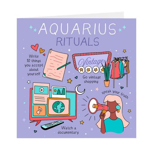 Aquarius Rituals Greeting Card