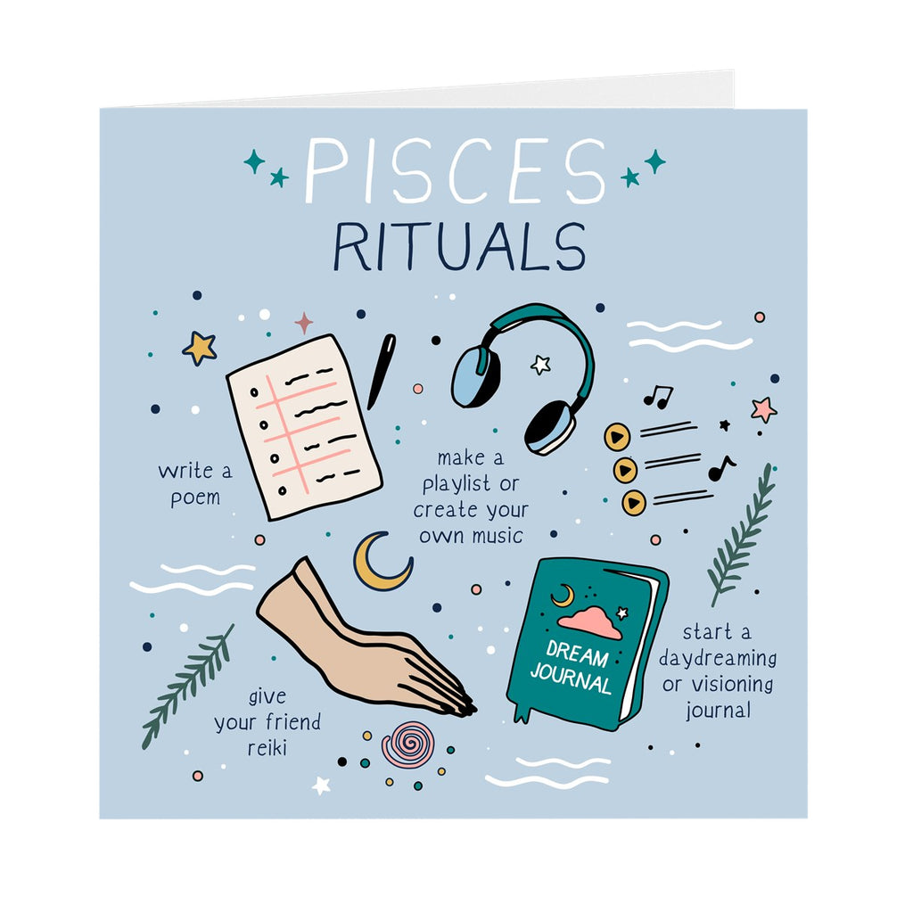 Pisces Rituals Greeting Card