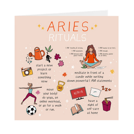 Aries Rituals Greeting Card