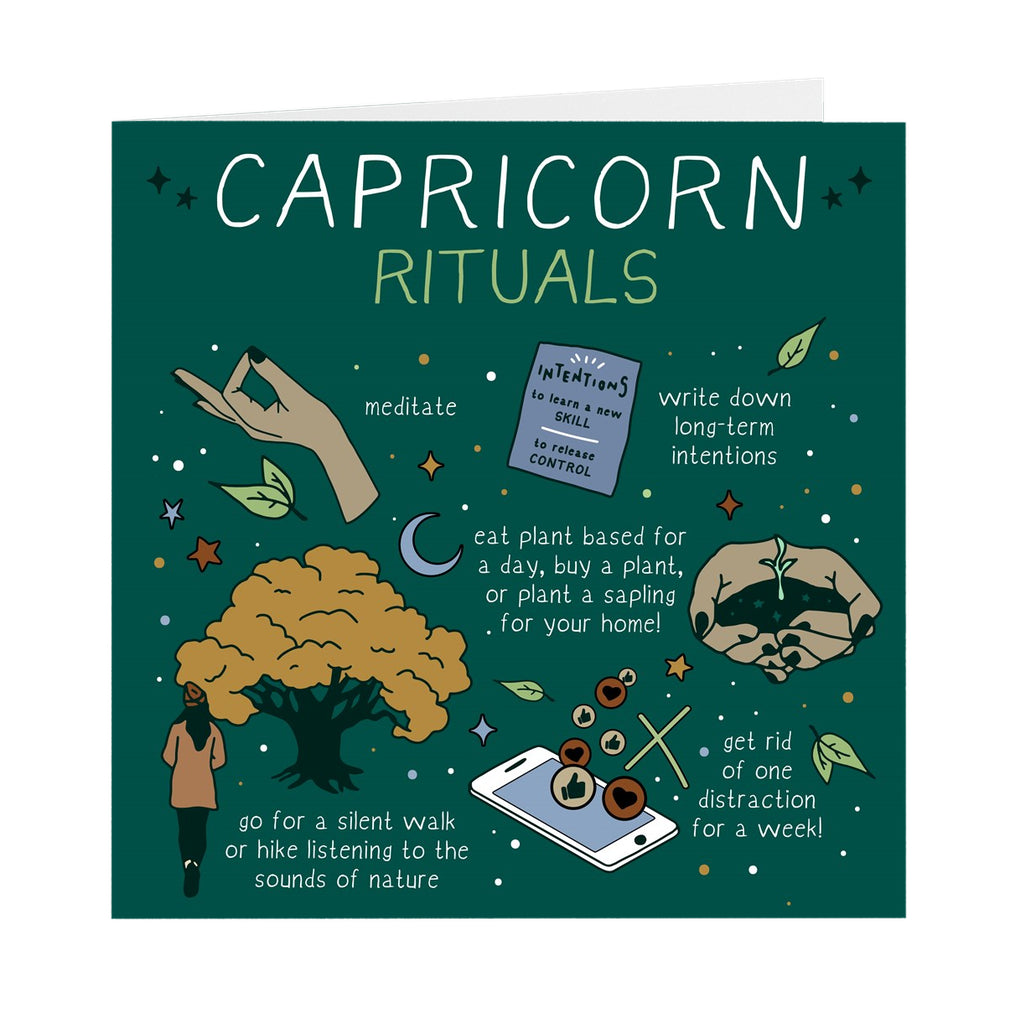 Capricorn Rituals Greeting Card