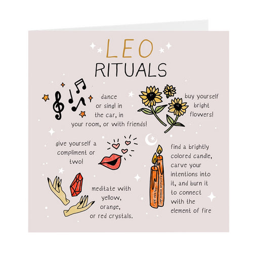 Leo Rituals Greeting Card