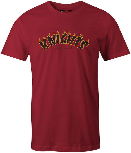 Thrasher Styled, Calvin College Maroon T-Shirt