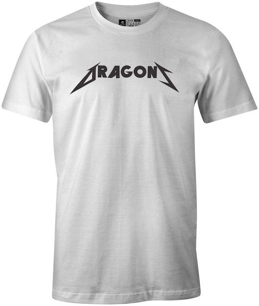 Metallica Styled Dragons White T-Shirt