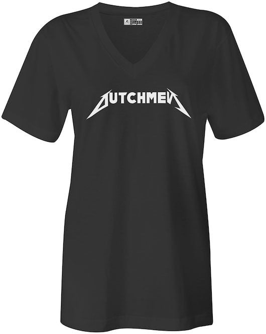 Women Metallica Styled Dutchman Black T-Shirt