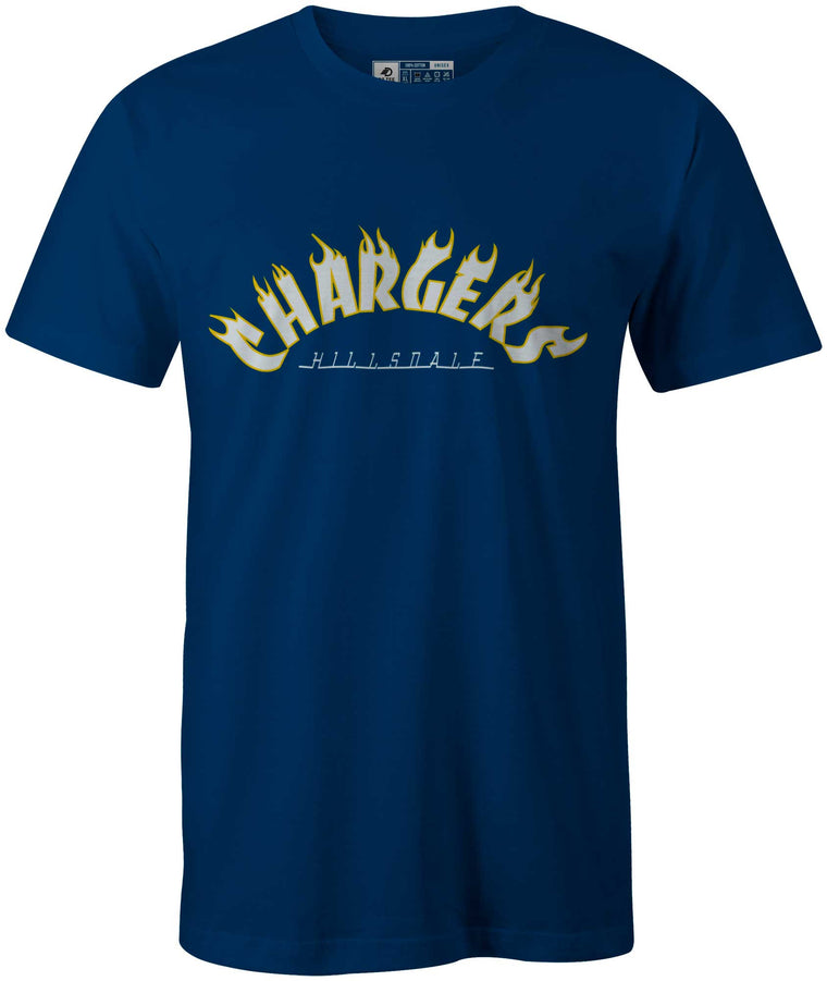 Thrasher Styled, Hillsdale College Cool Blue T-Shirt